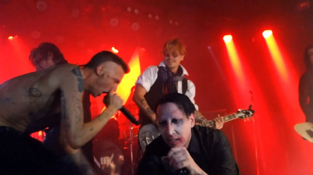 "Watch Marilyn Manson Play ""The Beautiful People"" With The Beautiful Johnny Depp And Die Antwoord"