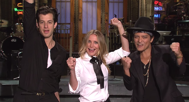 Watch Mark Ronson &#038; Bruno Mars&#8217; <em>SNL</em> Promos With Cameron Diaz