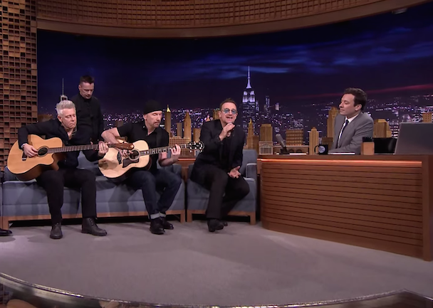 U2 Are Doing A Whole Week On The Tonight Show