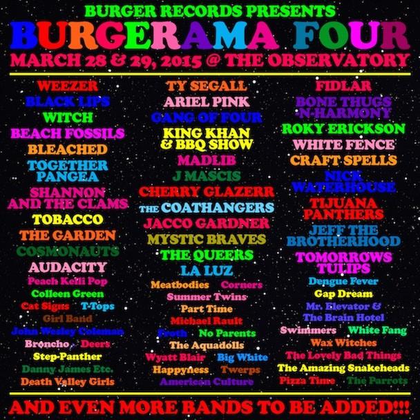 Burgerama Four Lineup