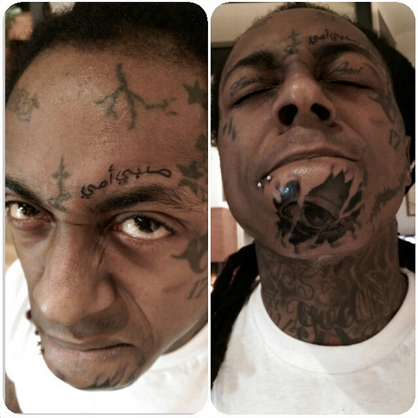 008ba5643b5c7 Lil Wayne's New Face Tattoo Doesn't Mean What He Thinks It Means ...