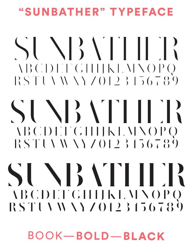 Sunbather font