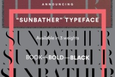 Sunbather typeface