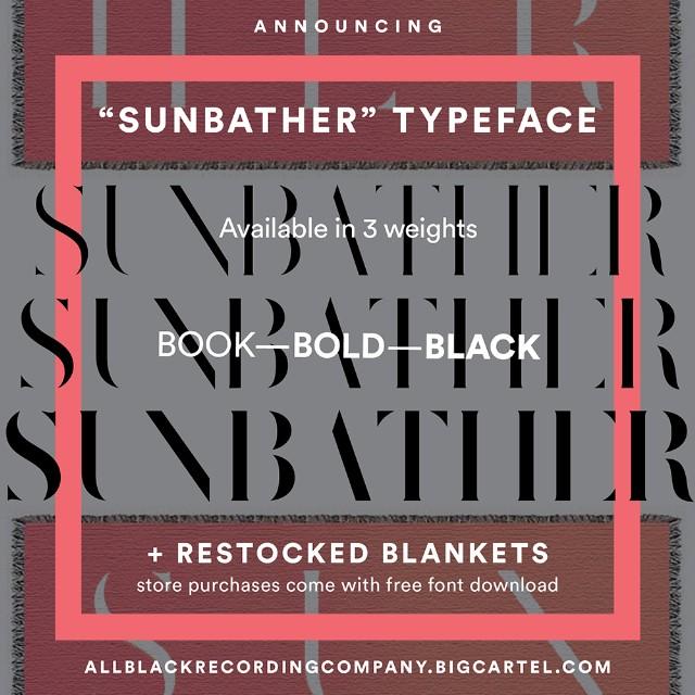 Sunbather typeface