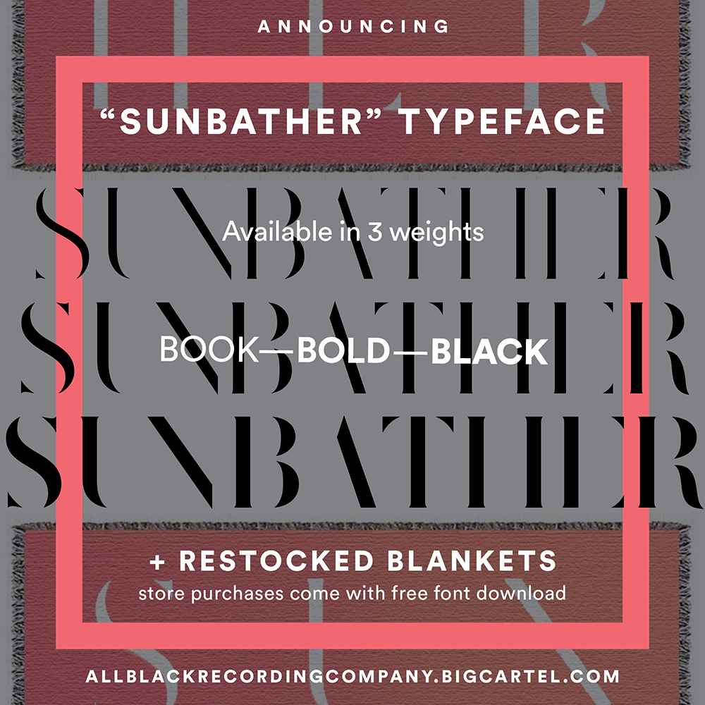 Deafheaven Selling <em>Sunbather</em> Font; Blanket Already Sold Out