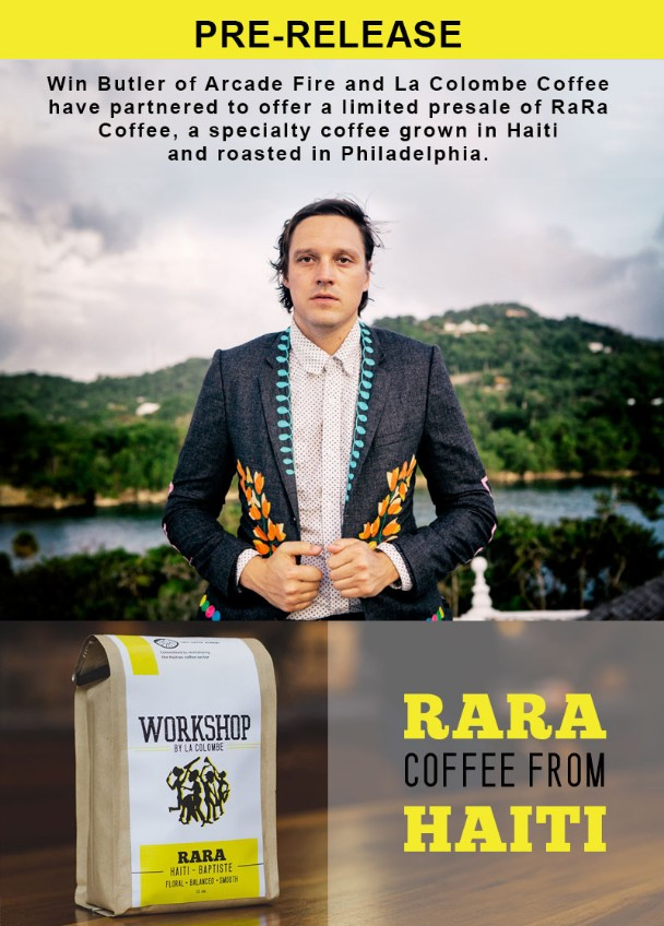 Win Butler Releases Charity Coffee