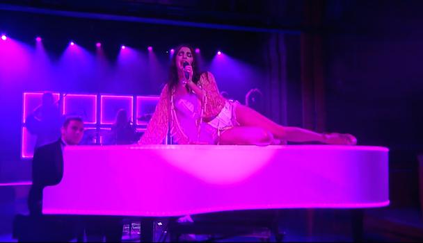 "Watch Charli XCX Perform ""Need Ur Love"" With Vampire Weekend's Rostam Batmanglij On Letterman"