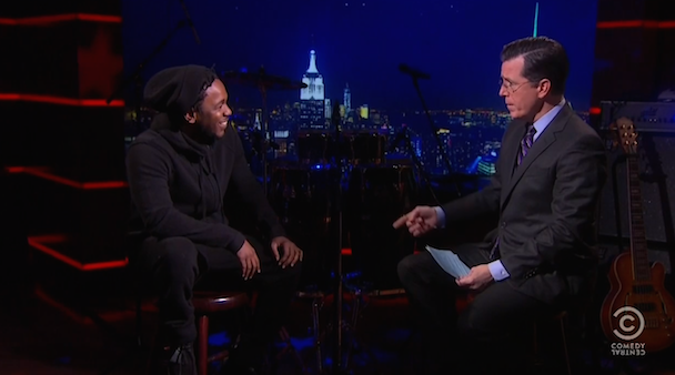 Watch Kendrick Lamar Debut A New Song On Colbert