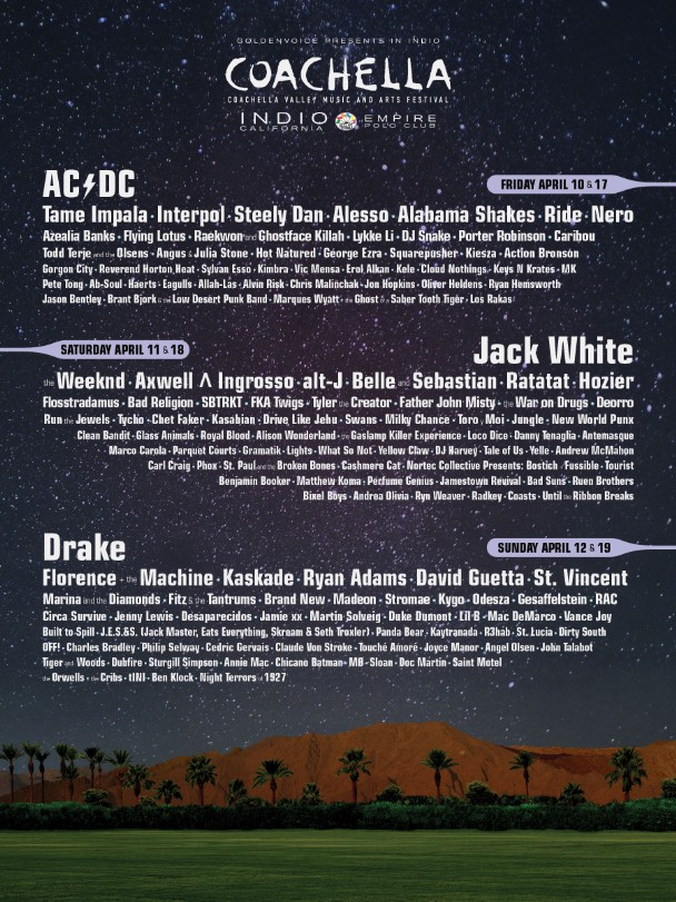 Coachella 2015 lineup stereogum for Jardin stereo 2015 line up