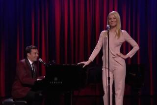 Watch Jimmy Fallon & Gwyneth Paltrow Sing Broadway Versions Of Drake, Nicki Minaj, & Big Sean