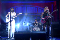 Watch Sleater-Kinney&#8217;s High-Kicking <em>Letterman</em> Reunion