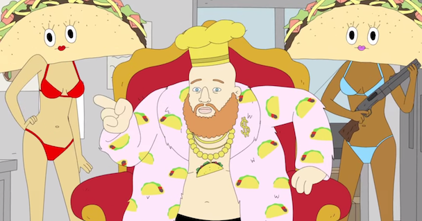 Watch Animated Action Bronson Play An Angry Taco Truck Owner On Lucas Bros. Moving Co.