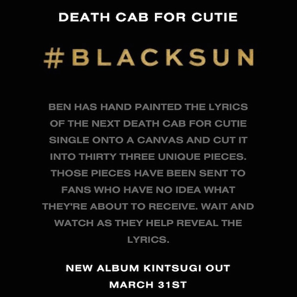 Death Cab Enlist Fans To Piece Together Black Sun Lyrics On