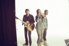 "Watch Rihanna, Kanye, & Paul McCartney Behind The Scenes Of The ""FourFiveSeconds"" Video Shoot"