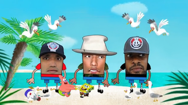 "N.E.R.D. - ""Patrick Star"" & ""Sandy Squirrel"" + ""Squeeze Me"" Video"