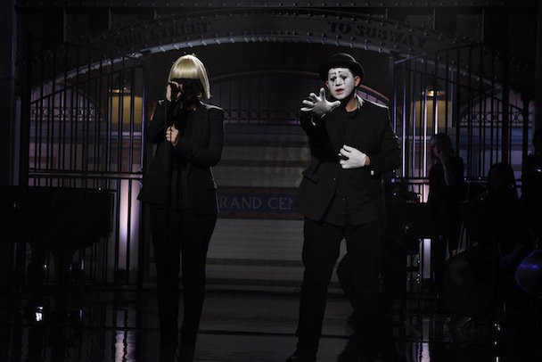 Watch Sia, Maddie Ziegler, & A Signing Mime Do SNL