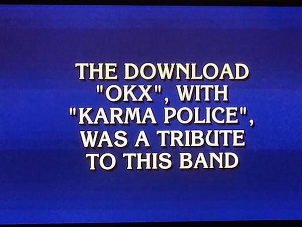 Radiohead Was The Answer To A Very Surprising Jeopardy! Question