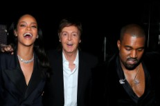 Rihanna, Paul McCartney, and Kanye West