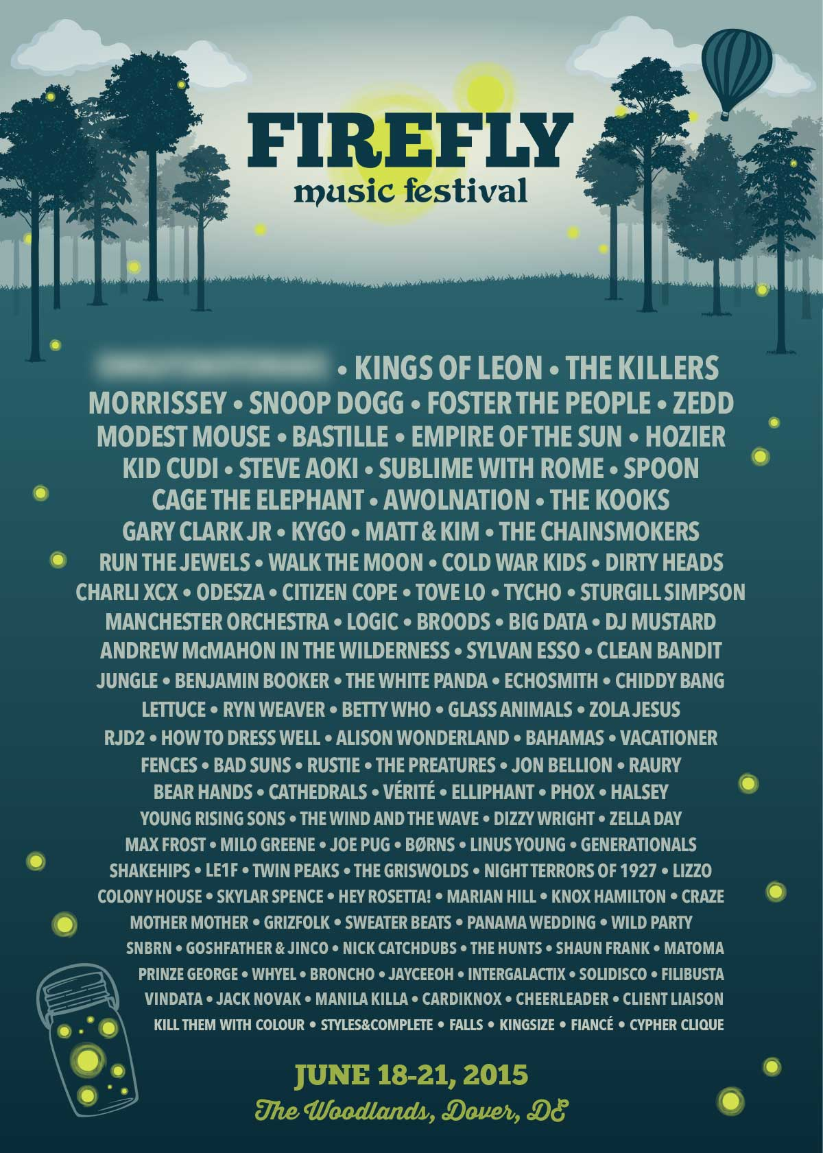 Firefly Confirms 2015 Lineup That Leaked 3 Weeks Ago