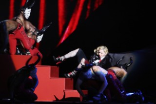 Watch Madonna Fall Off The Stage At The BRIT Awards