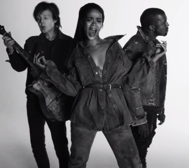 "Rihanna, Kanye West, & Paul McCartney – ""FourFiveSeconds"" Video"