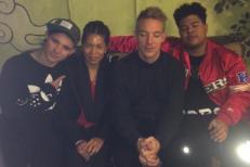 Skrillex, Diplo, Makonnen, & Makonnen's mom