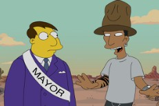 Watch Pharrell Visit <em>The Simpsons</em> And Get Kicked Out Of Springfield