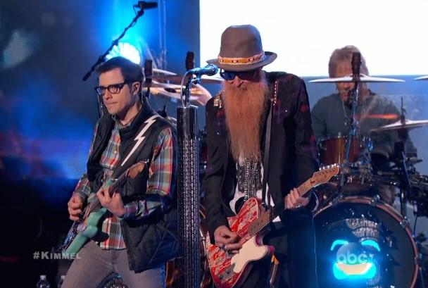 Watch Weezer Join ZZ Top As Wee-Z Top On <em>Jimmy Kimmel</em>