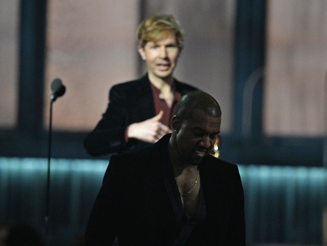 Kanye West Crashes The Stage When Beck Wins A Grammy
