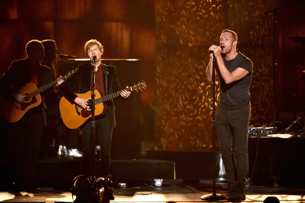 Beck with Chris Martin