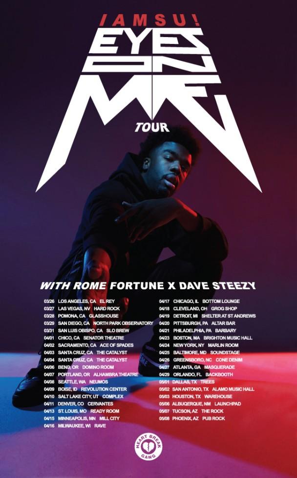 Iamsu! Eyes On Me Tour Dates