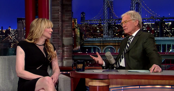 Watch Courtney Love Talk <em>Montage Of Heck</em>, Drugs, &#038; Dave Grohl On <em>Letterman</em>