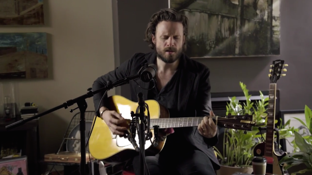 "Watch Father John Misty Cover Leonard Cohen's ""Bird On The Wire"" On The Strombo Show"