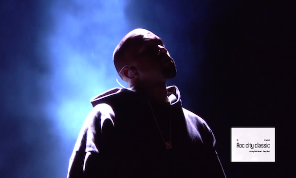 Watch Kanye West's Performance At The Inaugural Roc City Classic NBA All-Star Event