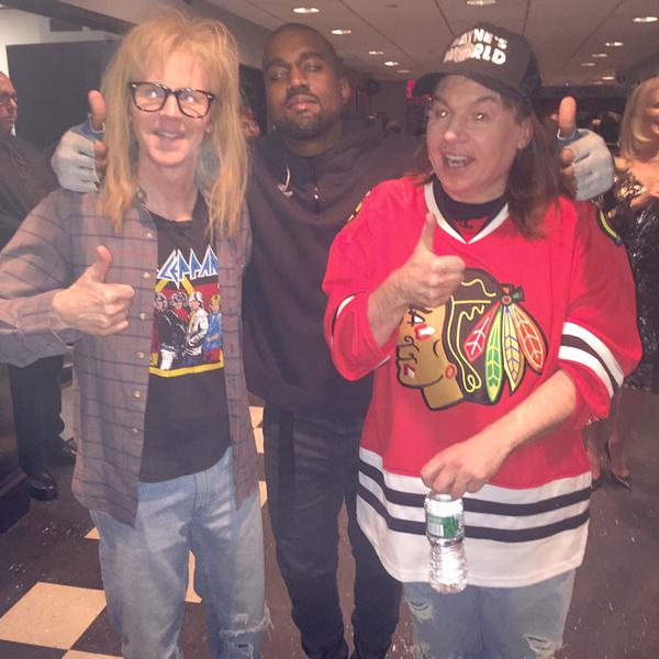 Kanye West With Wayne & Garth