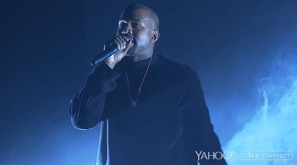 Watch Kanye West Perform, Denounce Nike At Big Sean's Yahoo! Live Concert
