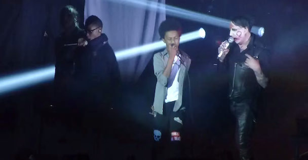"Watch Marilyn Manson Sing ""The Beautiful People"" With Teenage Metal Band Unlocking The Truth"