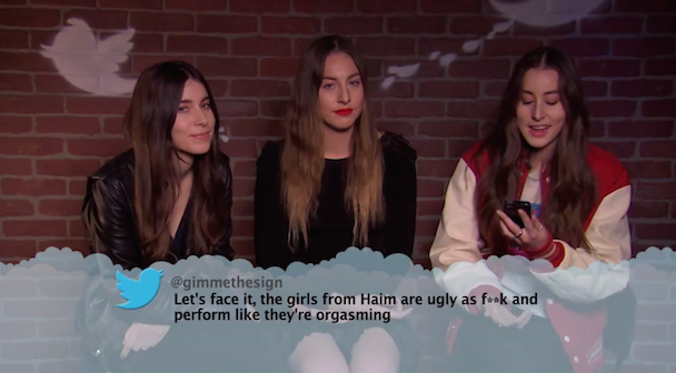 Watch Drake Haim Sia Read Mean Tweets About Themselves On Jimmy Kimmel