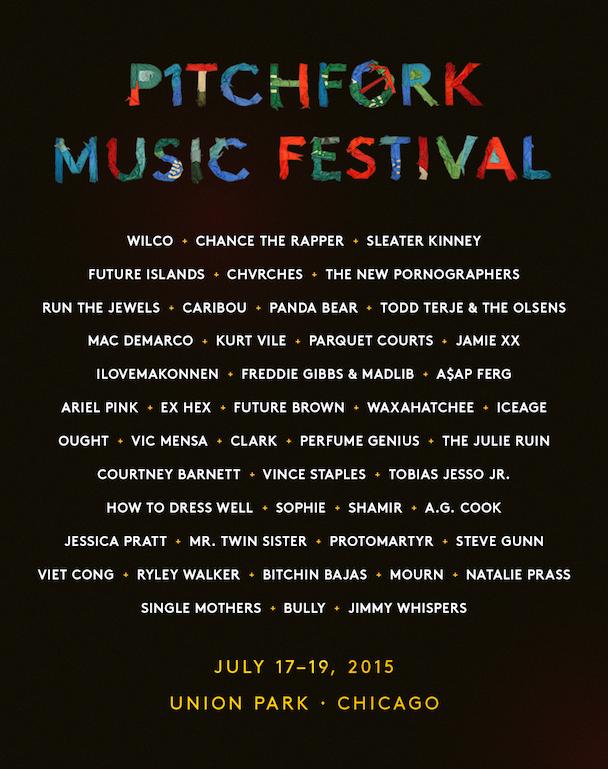 Pitchfork 2015 Lineup