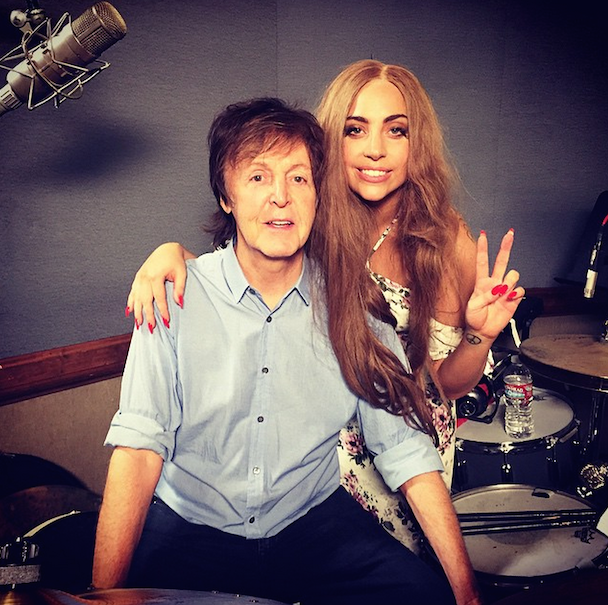 Buzzy Singer-Songwriter Paul McCartney Is Now Recording With Lady Gaga & Mike McCready