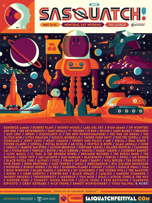 Sasquatch! 2015 Lineup