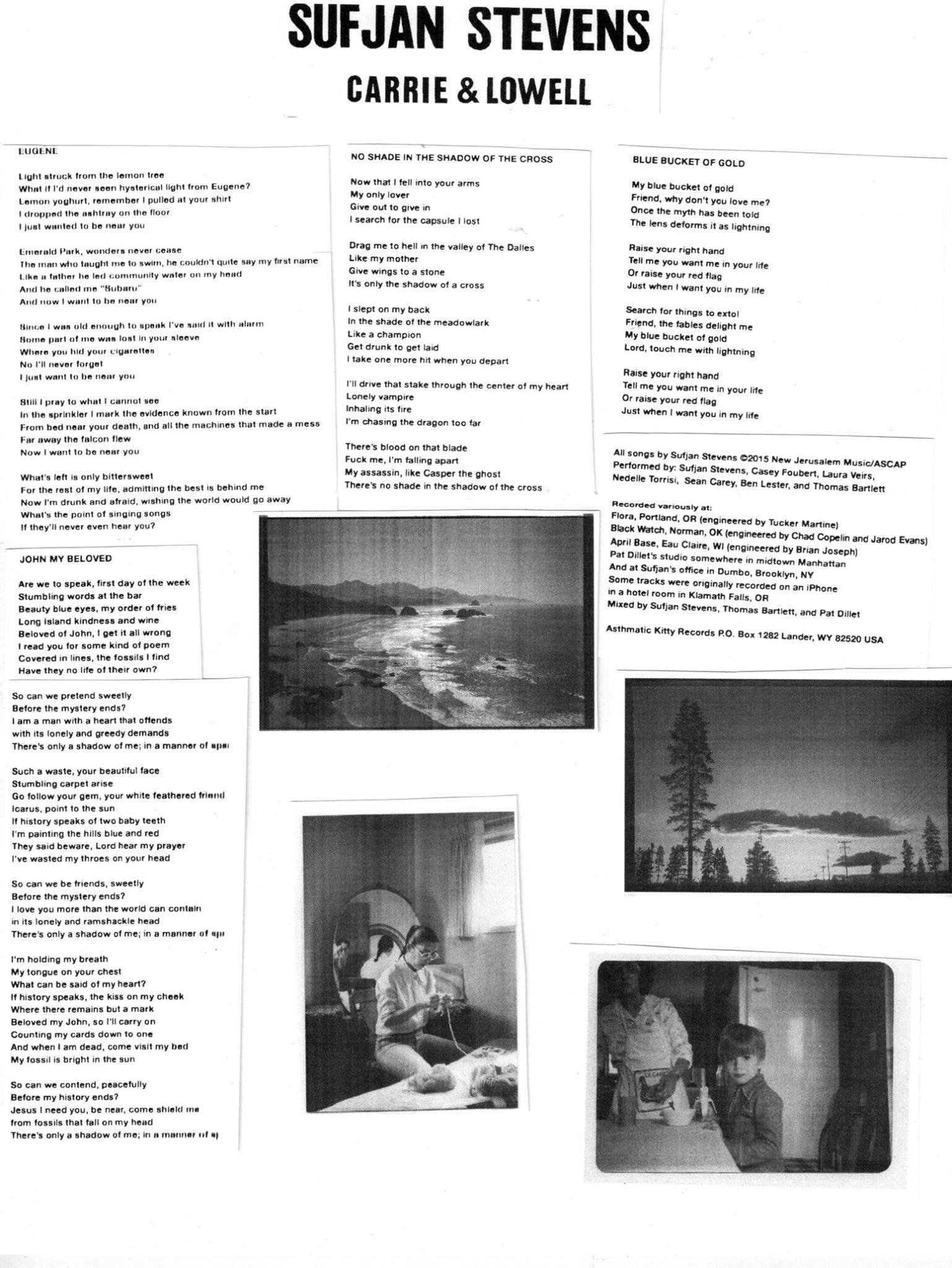 "Sufjan Stevens Carrie & Lowell ""Silent"" Listening Parties ..."