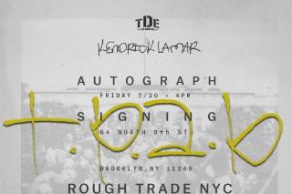Kendrick Lamar Is Doing A Signing At Rough Trade NYC Tomorrow