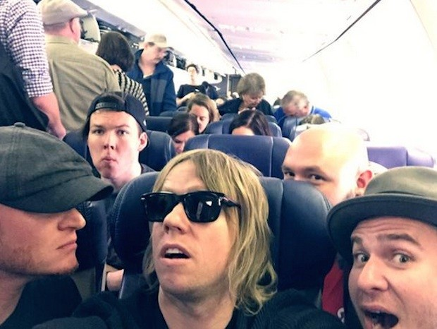 Lifehouse on a plane