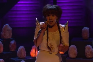 Watch Purity Ring And Their Glowing Crystals Play <em>Conan</em>