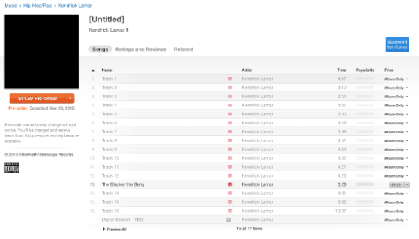 Kendrick Lamar iTunes