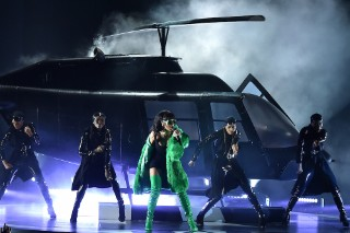 "Watch Rihanna Perform ""Bitch Better Have My Money"" At The iHeartRadio Awards"