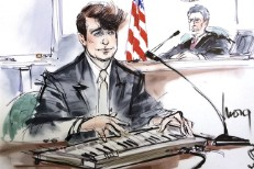 Robin Thicke Courtroom Illustration