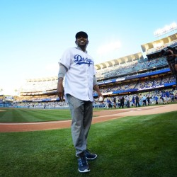 Watch Kendrick Throw The First Pitch For The Dodgers