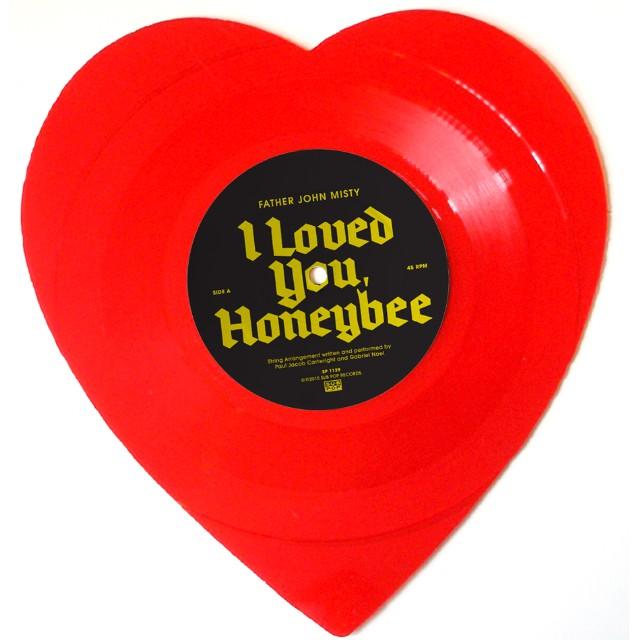 I Loved You Honeybee Father John Misty Heart-Shaped Vinyl